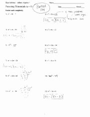 Factoring Trinomials Worksheet Answers Fresh Factoring Trinomials Worksheets with Answers Factoring