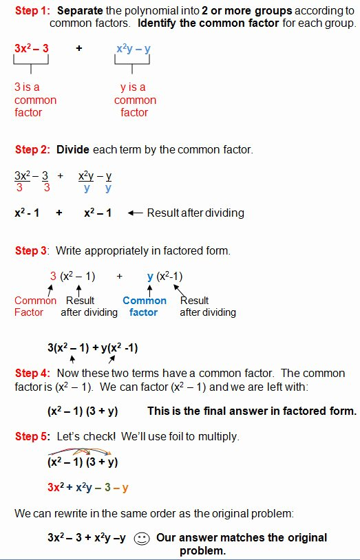 Factoring Worksheet Algebra 1 Luxury Factoring Polynomials Worksheet with Answers