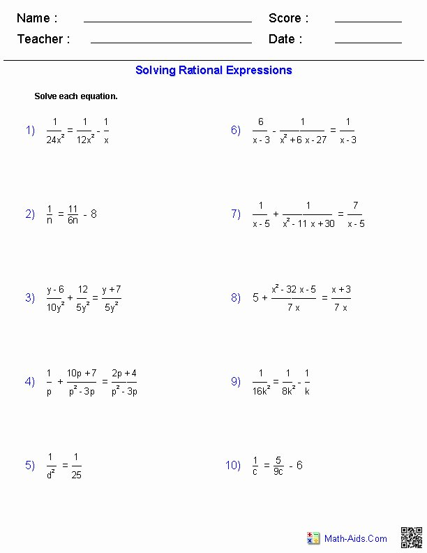 Factoring Worksheet Algebra 2 Unique Factoring Polynomials Worksheet with Answers