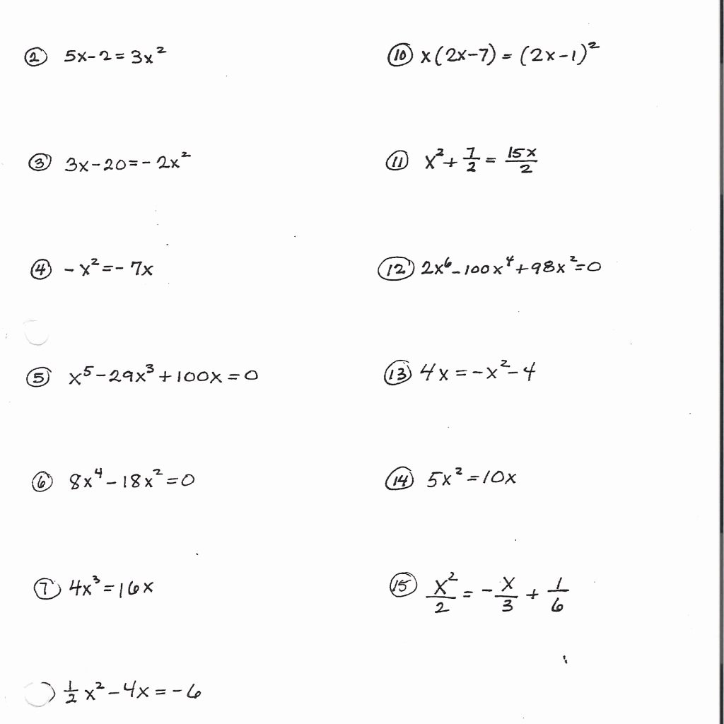 Factoring Worksheet with Answers Beautiful Mixed Factoring Worksheets