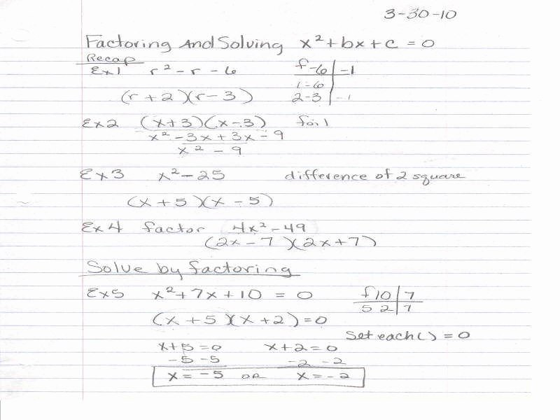 Factoring Worksheet with Answers Elegant Factor Trinomials Worksheet