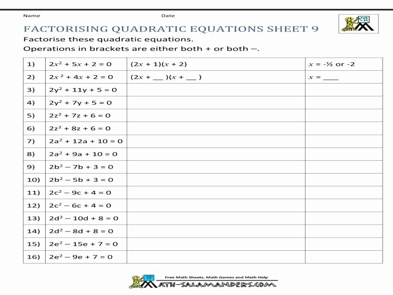 Factoring X2 Bx C Worksheet Awesome Factoring X2 Bx C Worksheet Free Printable Worksheets