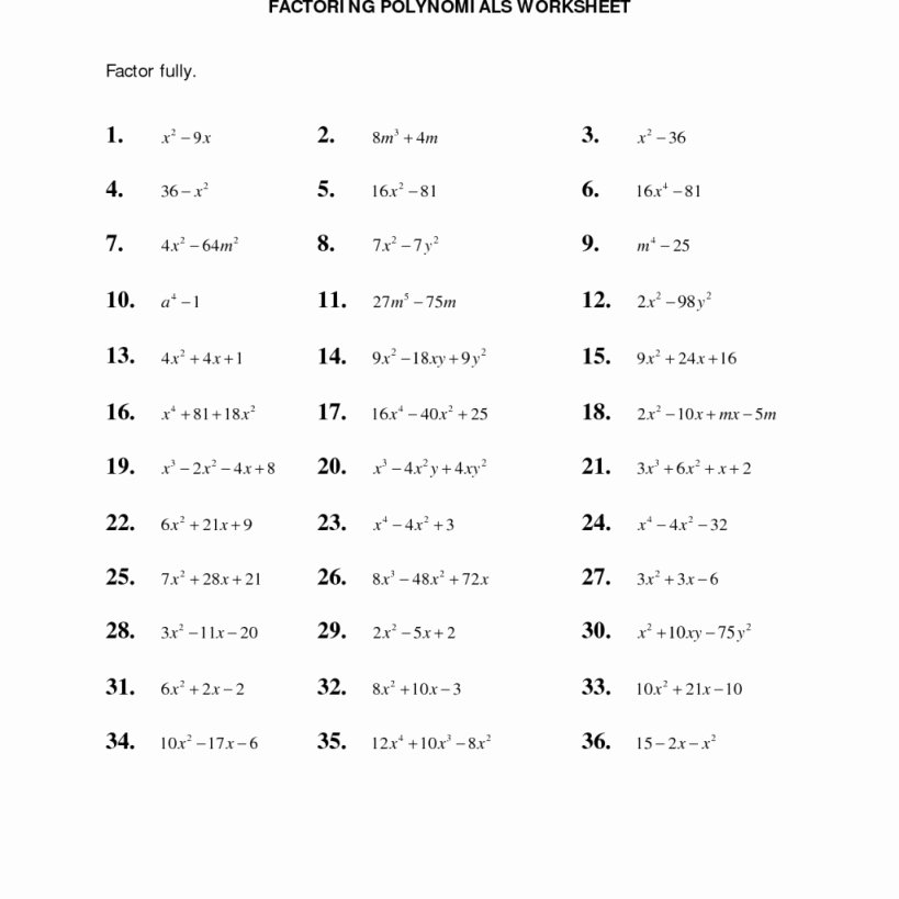 Factoring X2 Bx C Worksheet Best Of Factoring Ax2 Bx C Worksheet Answers