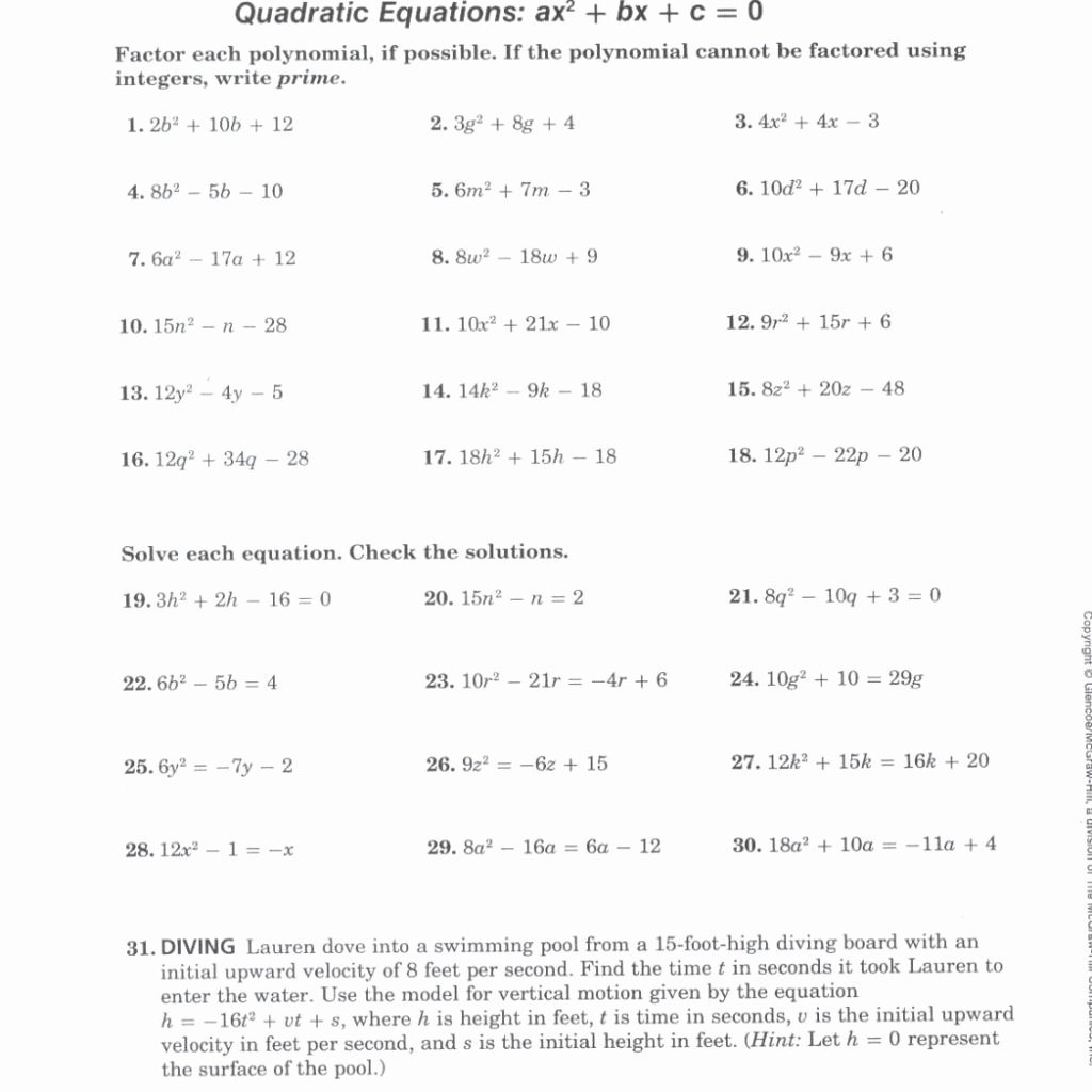 Factoring X2 Bx C Worksheet Inspirational Factoring X2 Bx C Worksheet the Best Worksheets Image