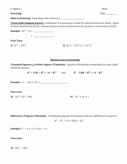 Factoring X2 Bx C Worksheet New Factoring Worksheet Factor by Grouping Review Trinomials