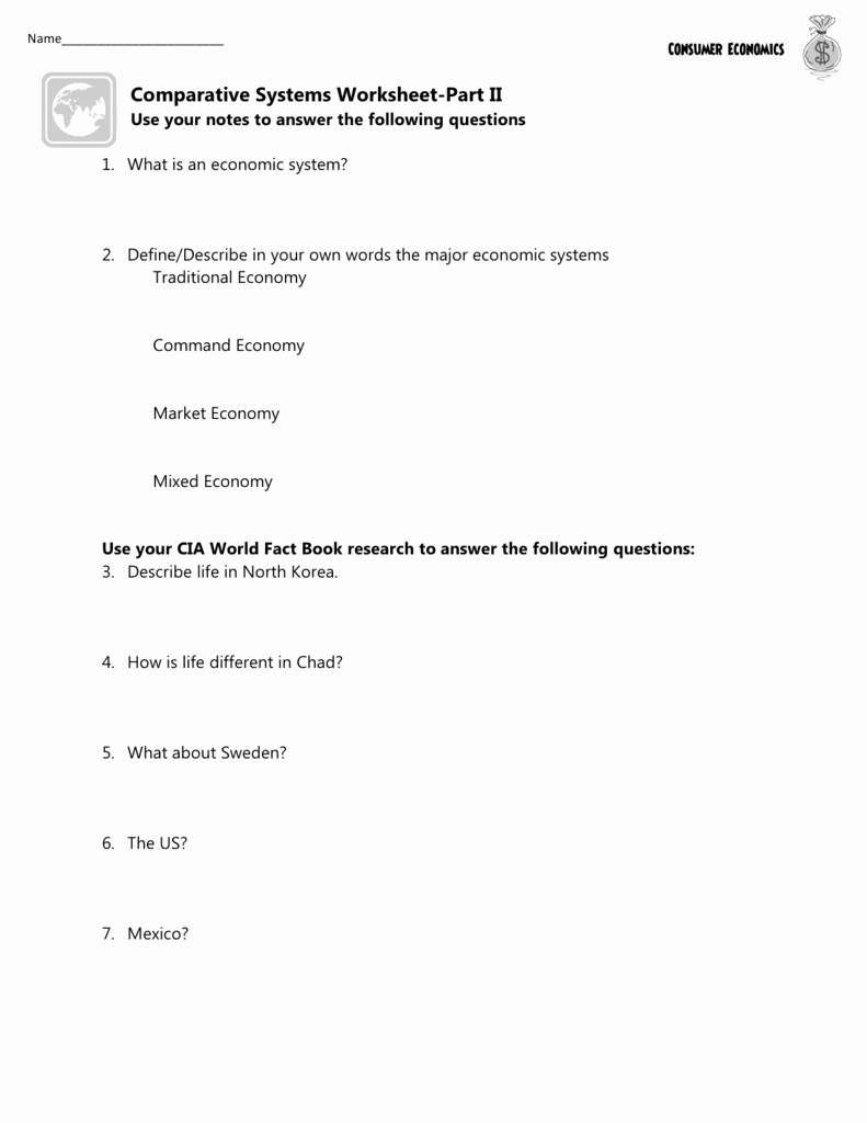 Factors Of Production Worksheet Answers Elegant the Market Economy Worksheet Answer Key