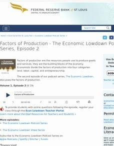 Factors Of Production Worksheet Beautiful Factors Of Production Lesson Plans & Worksheets Reviewed