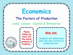 Factors Of Production Worksheet Luxury Factors Of Production Microeconomics Ppt & Worksheet