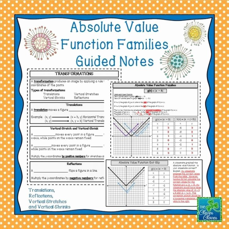 Families Of Functions Worksheet Inspirational Families Functions Worksheet
