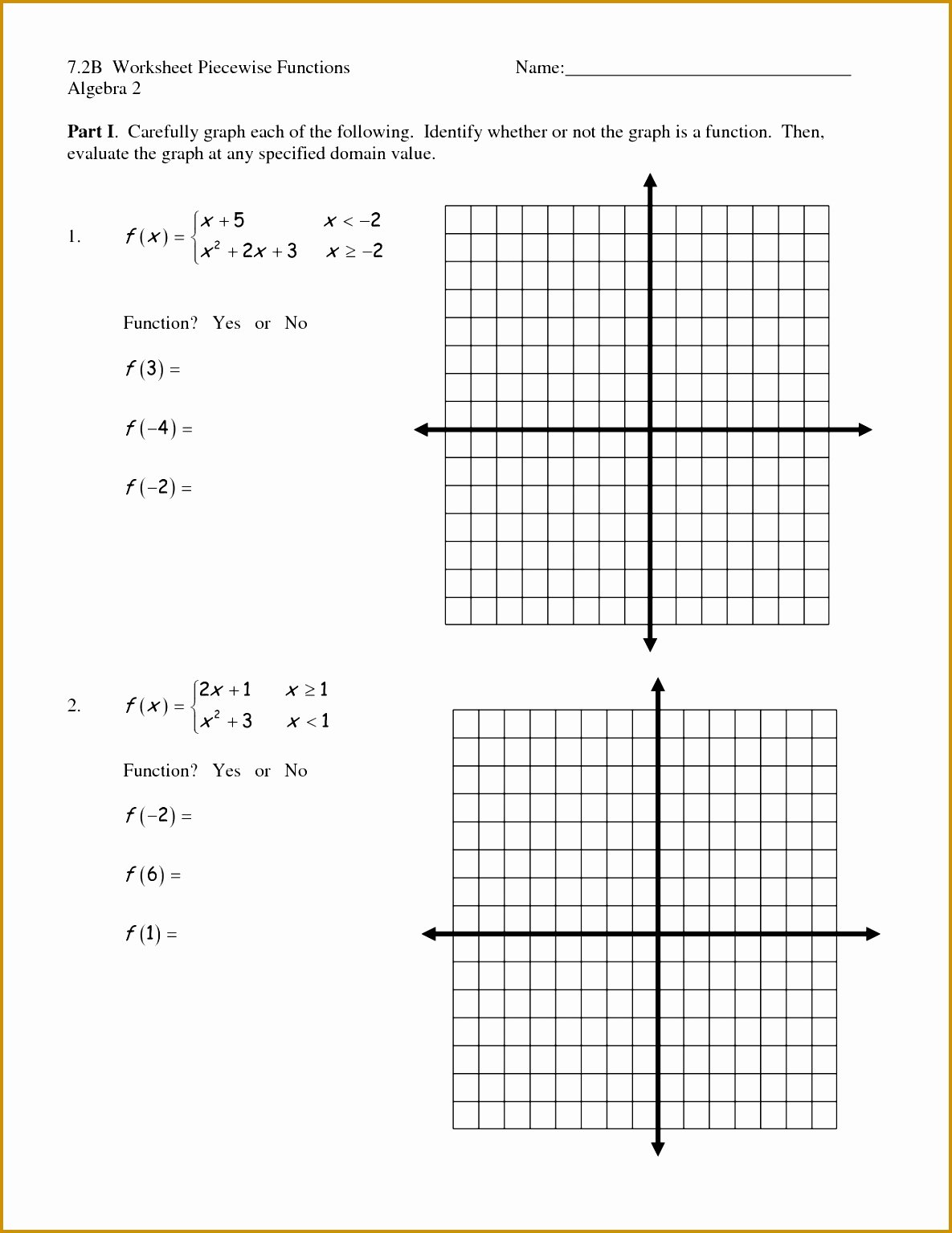 Families Of Functions Worksheet New Math Worksheet Functions