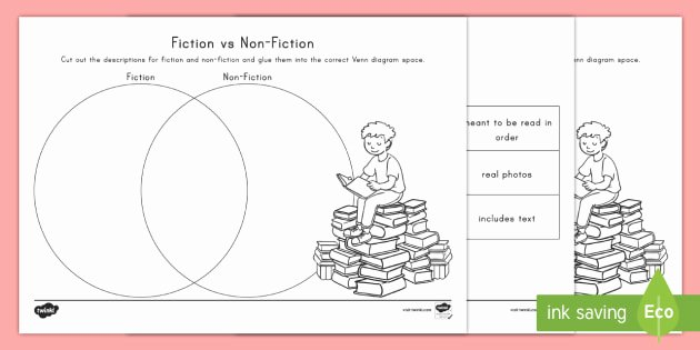 Fiction Vs Nonfiction Worksheet Beautiful Fiction Vs Non Fiction Venn Diagram Worksheet Worksheet