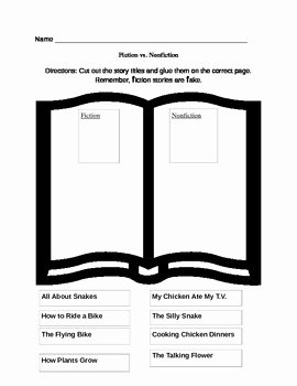 Fiction Vs Nonfiction Worksheet Best Of Fiction Vs Nonfiction Worksheet by Lindsey Knehr