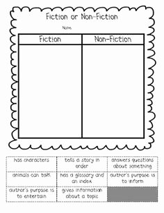 Fiction Vs Nonfiction Worksheet Elegant 1000 Images About Teaching Fiction On Pinterest