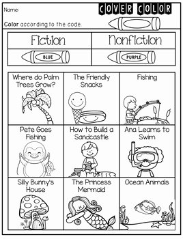 Fiction Vs Nonfiction Worksheet Inspirational Fiction Nonfiction assessment Printable by Violet Tabitha