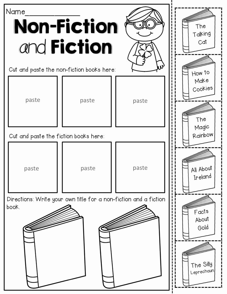 Fiction Vs Nonfiction Worksheet Inspirational Non Fiction and Fiction Read the Titles Of the Books and