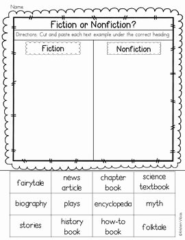 Fiction Vs Nonfiction Worksheet Lovely 22 Best Images About Nonfiction Text Ideas On Pinterest