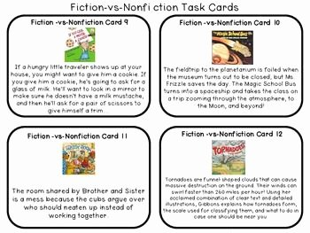 Fiction Vs Nonfiction Worksheet Lovely Editable Fiction Vs Nonfiction Task Cards with Cooperative