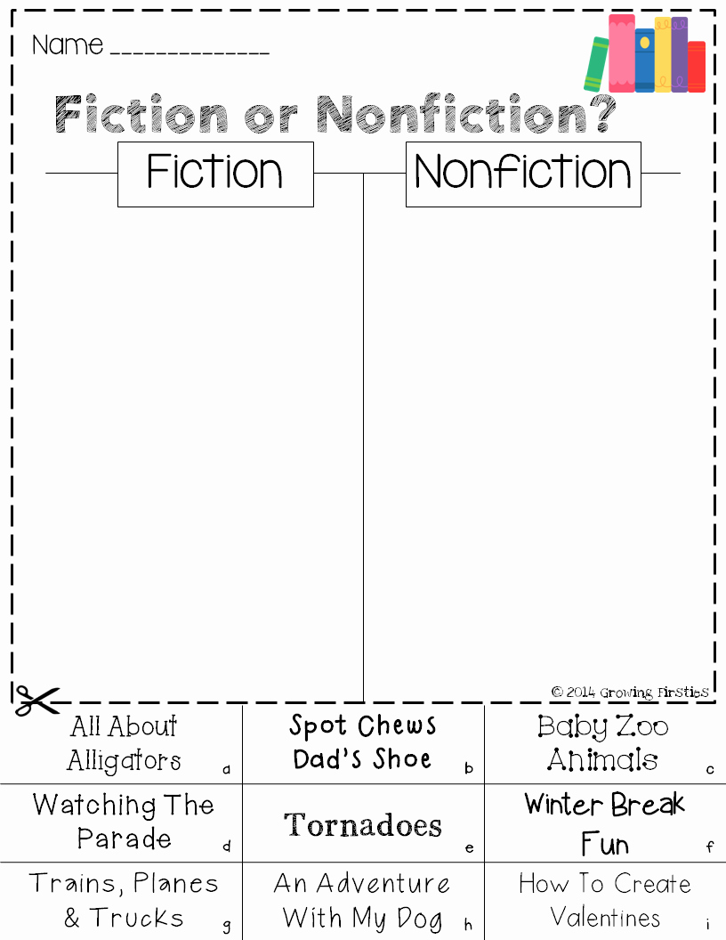 Fiction Vs Nonfiction Worksheet Luxury Freebie Mania Five for Friday