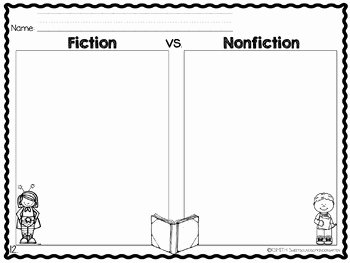 Fiction Vs Nonfiction Worksheet New Fiction Vs Nonfiction Activities Unit by Sweet sounds