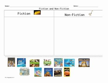 Fiction Vs Nonfiction Worksheet New Freebie Fiction and Non Fiction Picture sort by Lipstick