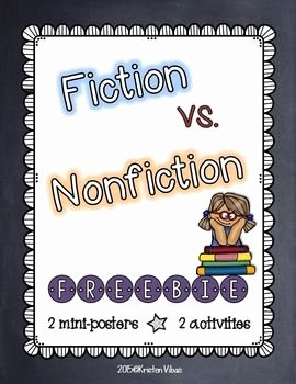 Fiction Vs Nonfiction Worksheet Unique 17 Best Images About Nonfiction Features Reference sources
