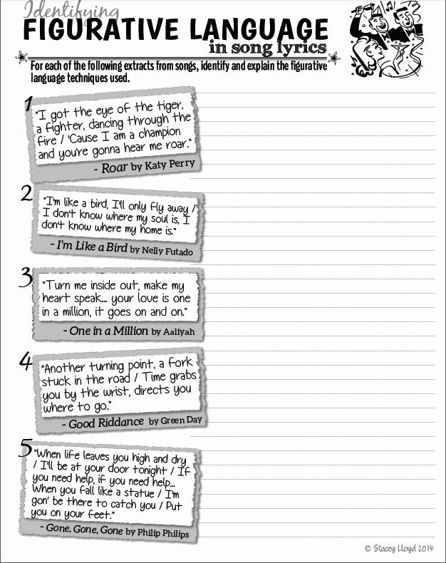 Figurative Language Review Worksheet Elegant Mrsrandas English Teacher