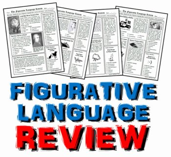 Figurative Language Review Worksheet Luxury Figurative Language Review Bundle by Jacob Lightbody