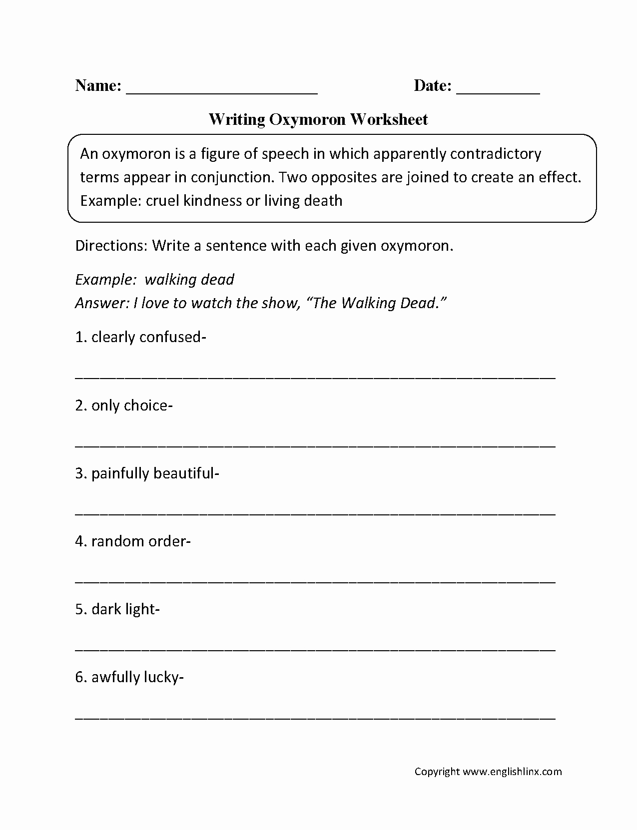 Figures Of Speech Worksheet Awesome Figurative Language Worksheets