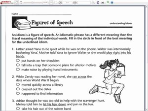 Figures Of Speech Worksheet Awesome Figures Of Speech Understanding Idioms 5th 6th Grade