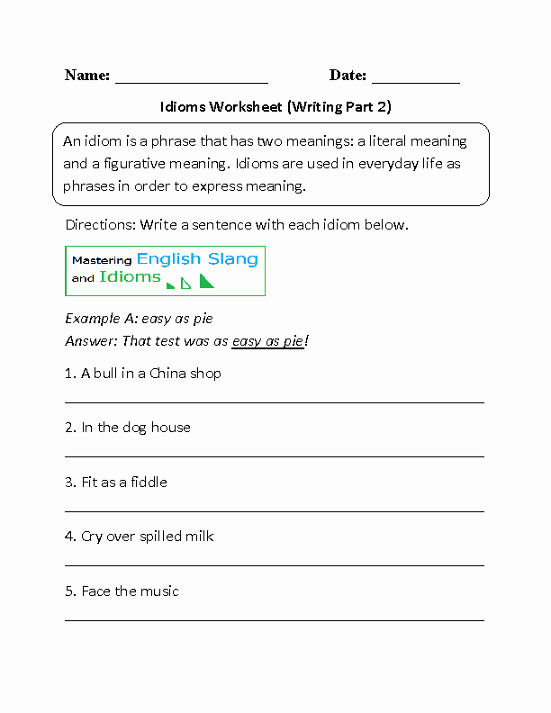 Figures Of Speech Worksheet Fresh Englishlinx