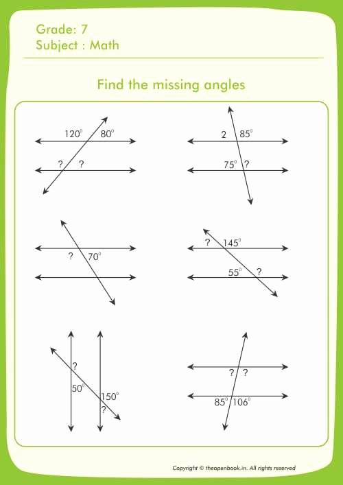 Find the Missing Angle Worksheet Lovely Printable Worksheets for Kids Cbse