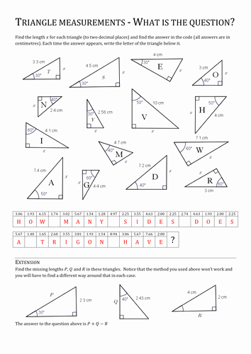 Find the Missing Angle Worksheet Unique Finding Missing Sides before Trigonometry by Pas1001