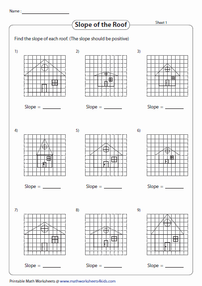 Find the Slope Worksheet Beautiful Slope Worksheets
