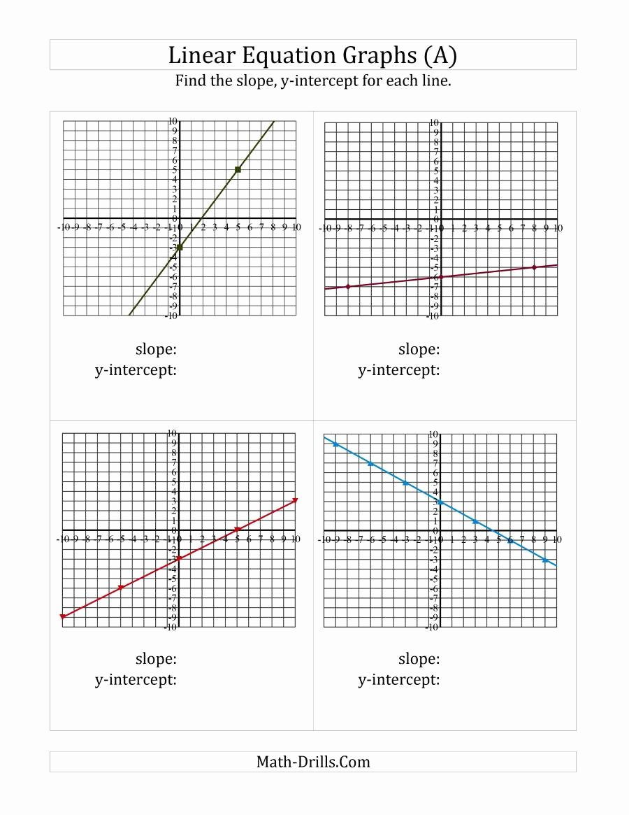 Find the Slope Worksheet Fresh Finding Slope and Y Intercept From A Linear Equation Graph A