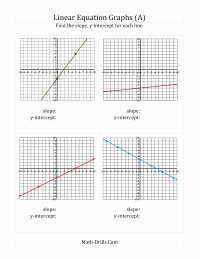 Find the Slope Worksheet Lovely Finding Slope and Y Intercept From A Linear Equation Graph