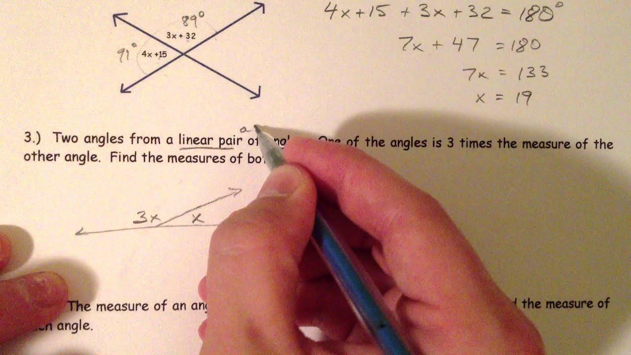 Finding Angle Measures Worksheet Elegant Angle Pair Relationships