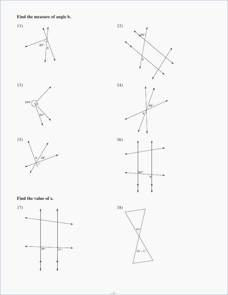 Finding Angle Measures Worksheet Inspirational Finding Angle Measures Worksheet the Best Worksheets Image