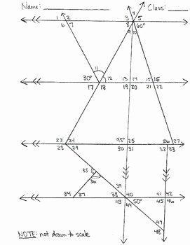Finding Angle Measures Worksheet Unique Determine Missing Angle Measures Worksheets by Haude