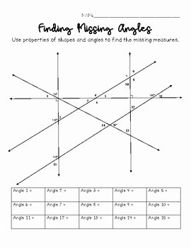 Finding Angle Measures Worksheet Unique Finding Missing Angle Measures Challenge by Middle and