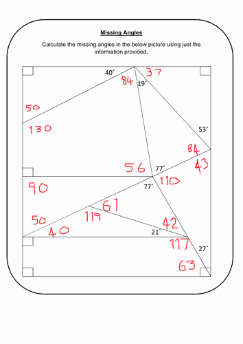 Finding Missing Angles Worksheet Best Of Missing Angles by Prescotmaths