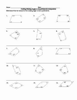 Finding Missing Angles Worksheet Luxury Finding Missing Angles In Quadrilaterals by Reading Addict