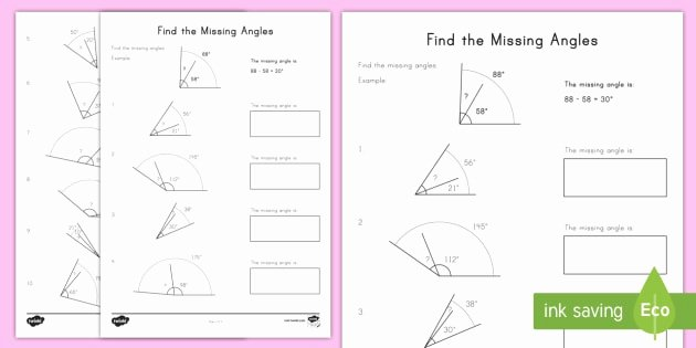 Finding Missing Angles Worksheet New Find the Missing Angles Worksheet Worksheet Adding