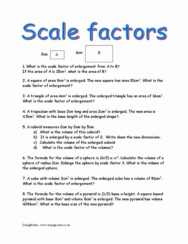 Finding Scale Factor Worksheet Best Of Factors Worksheet