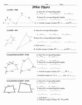 Finding Scale Factor Worksheet Fresh Similar Figures Practice Worksheet