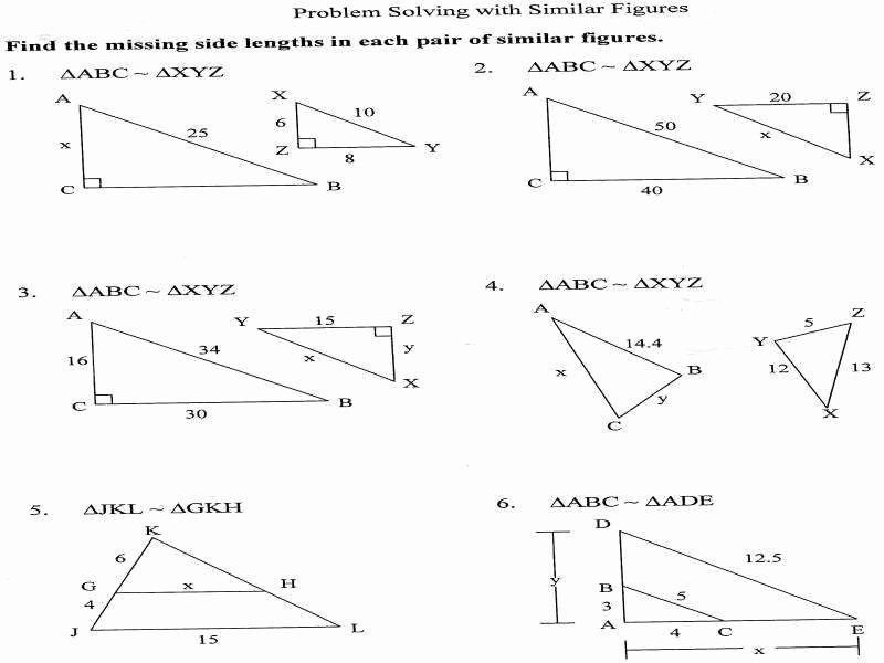 Finding Scale Factor Worksheet Fresh Similar Triangles Worksheet