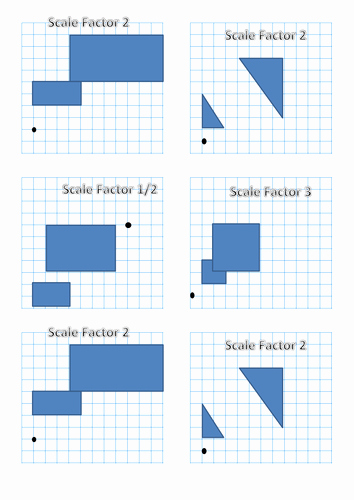 Finding Scale Factor Worksheet Luxury Level 6 Enlargement by Catrynw