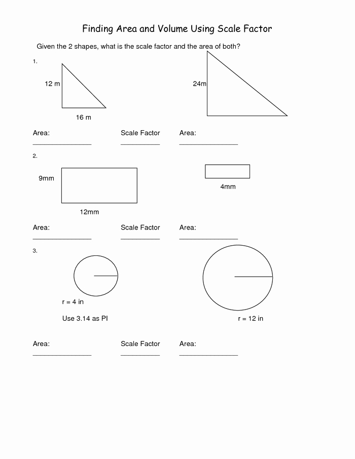 Finding Scale Factor Worksheet Unique Scale Factor Worksheet 7th Grade