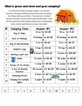 Finding Unit Rates Worksheet Best Of Unit Rate What S the Better Buy