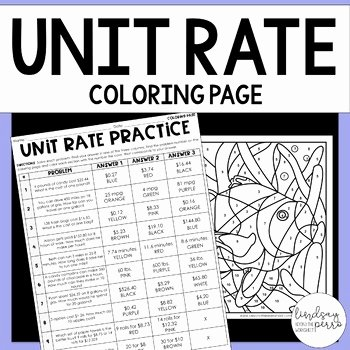 Finding Unit Rates Worksheet Luxury Unit Rate Activity 6 Rp 2 by Lindsay Perro
