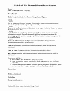 Five themes Of Geography Worksheet Awesome the Five themes Of Geography 7th 9th Grade Worksheet